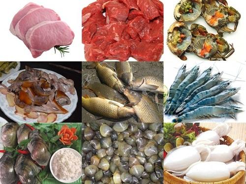 hải sản chứa nhiều sắt
